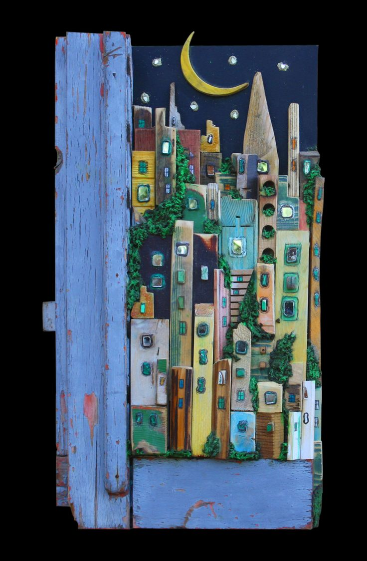 tiny houses, city view.