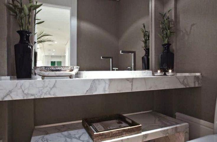 banheirolavabocinzapretobrancomodernodecoraçãomodelosdecorsalteado1 -> Banheiro Cinza Moderno