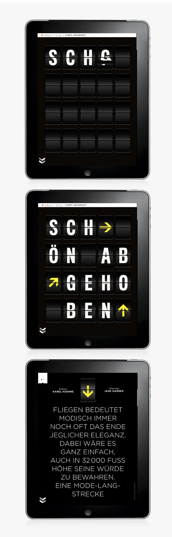 GQ MAGAZIN+ // iPad App by Michael Nolan, via Behance