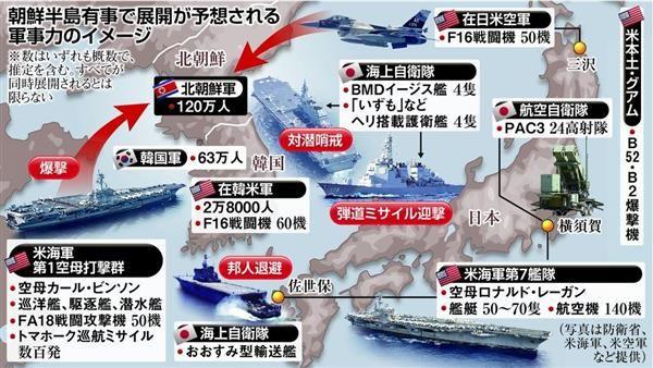 【北朝鮮情勢】  日米の有事態勢は 米軍は空母増派が「サイン」…北の核施設など限定攻撃か 自衛隊は対潜水艦戦や後方支援を想定 #ニュース #米軍 #北朝鮮