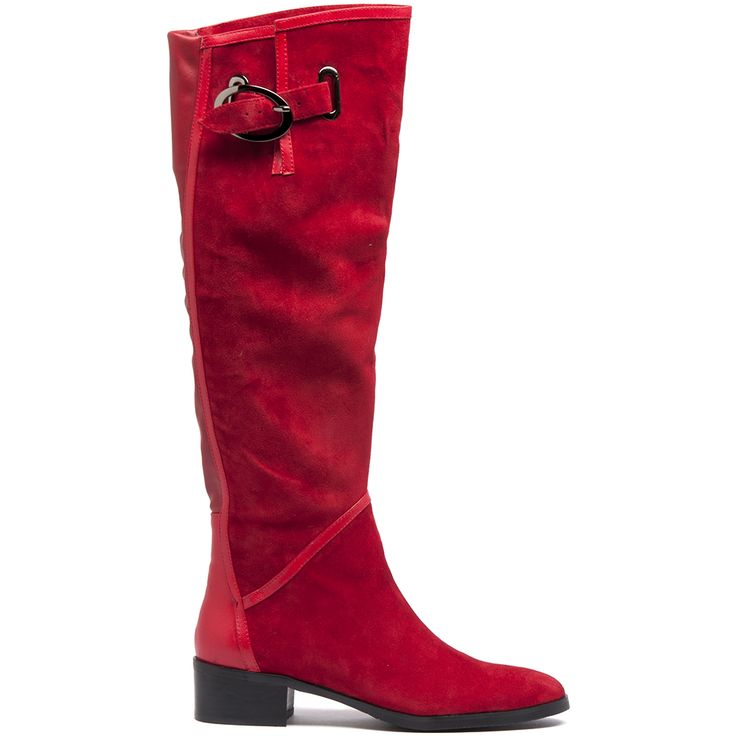 Tamila by Django & Juliette. Easily adjust this stylish boot to wear the cuff folded over or leave it upright to achieve two different looks. It will also see that you keep on trend with this season's love for equestrian fashion. It features an elegant leather panel at the back and a comfortable