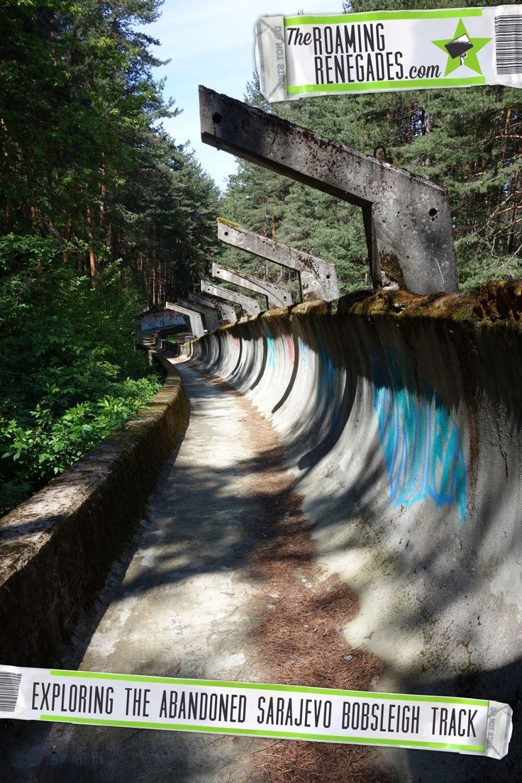 Hiking to the abandoned Sarajevo bobsleigh track from the 1984 Olympics >  http://theroamingrenegades.com/2016/07/hiking-abandoned-sarajevo-bobsleigh-track-1984-olymplics.html