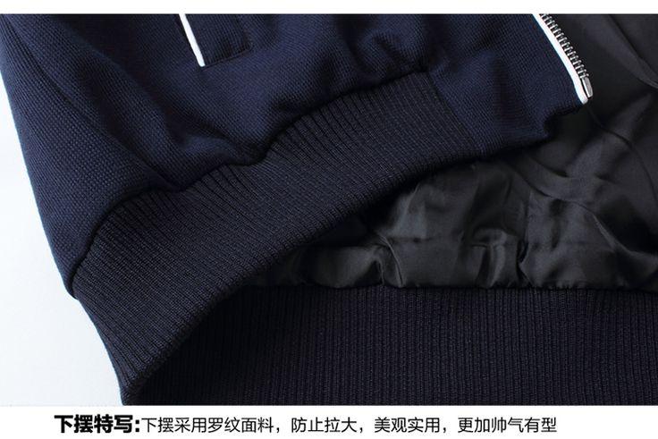 Caliente venta nueva otoño 2016 chaquetas de los hombres Coreanos de los hombres jóvenes de cuello de la chaqueta ocasional marea más código de tamaño M…