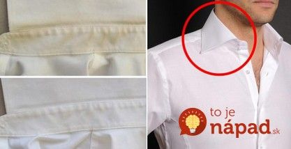 Ako odstrániť žlté škvrny z goliera a podpazušia? Jednoduchý trik vráti oblečeniu žiarivú bielosť!