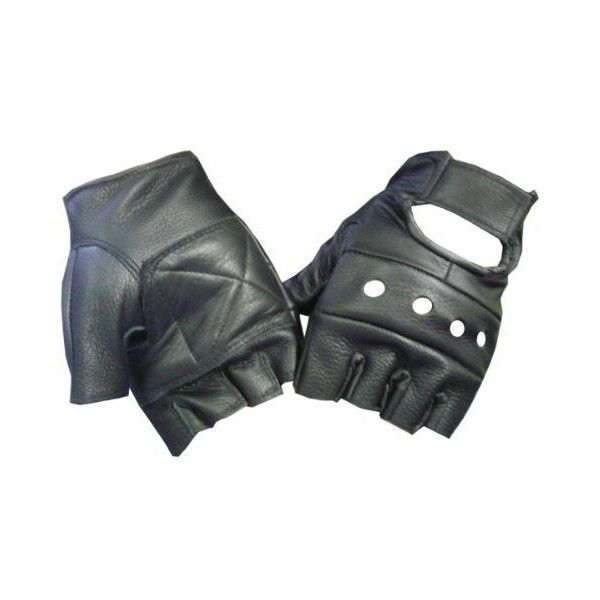 Amazon Motorcyle Biker Fingerless Leather Glove M Clothing 599