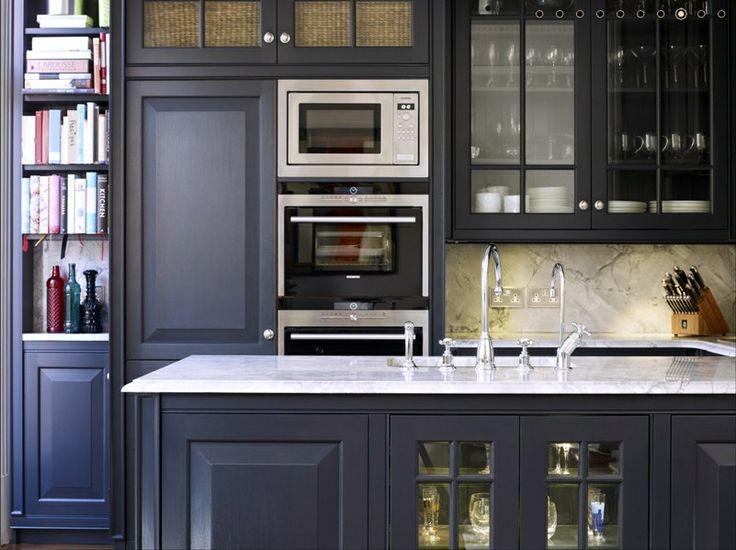 Une cuisine bleu marin... oseriez-vous? \\ A navy blue kitchen