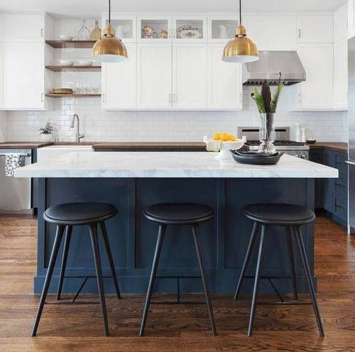 14 On Trend Kitchens In Navy Blue
