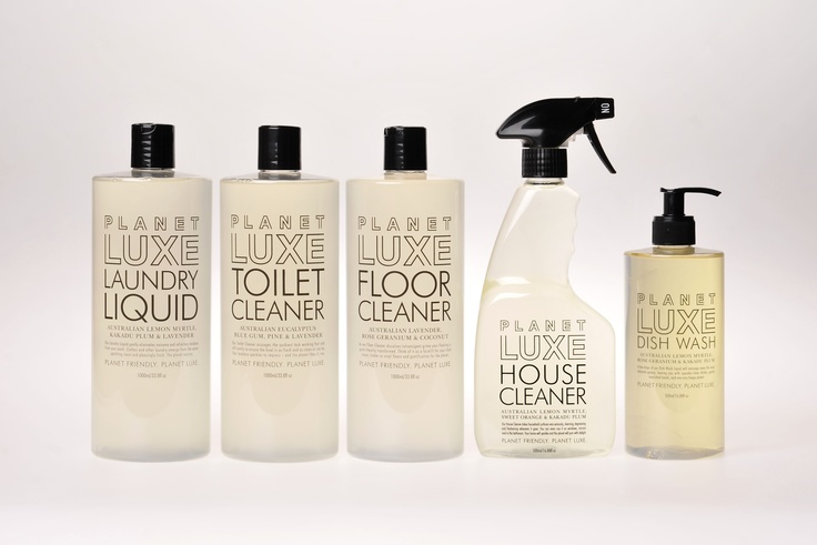 Planet Luxe new range of eco-friendly cleaning products and hand washes. Made in Melbourne Australia.