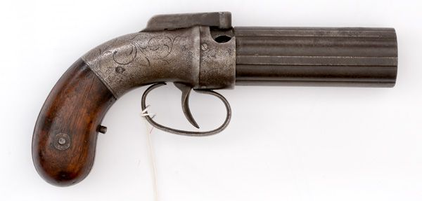 Allen Bar-Hammer Percussion Pepperbox (3/11/2015 - Firearms and Accoutrements: Live Salesroom Auction)