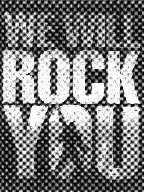 """We Will Rock You,"" Queen - Classic rock music concert psychedelic poster ~ ☮~ღ~*~*✿⊱  レ o √ 乇 !! ~"
