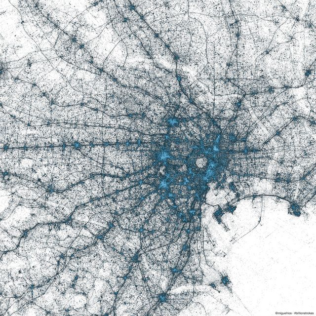 Twitter creates stunning images of New York City, Tokyo and Istanbul using only geotagged Tweets