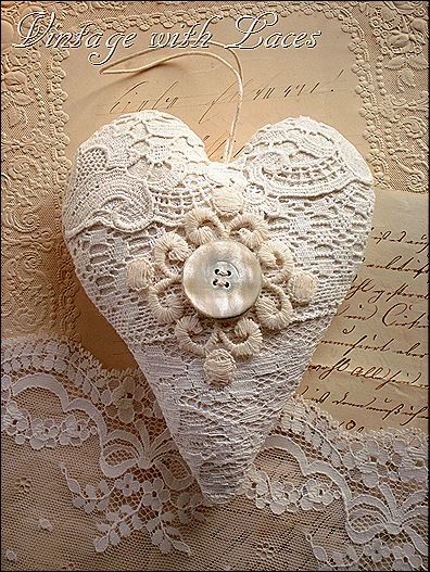 Lace Hearts and Other Valentine Decorations