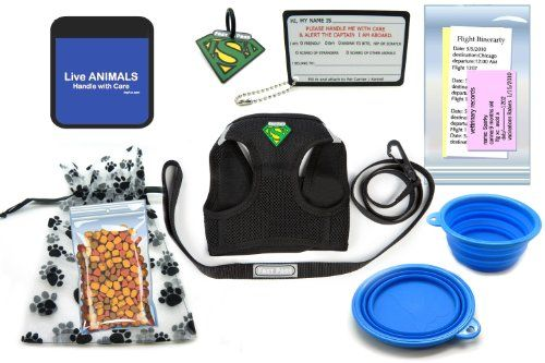 In Cabin Pet Airline Travel Accessory Kit BLUE Small Harness >>> See this great product.