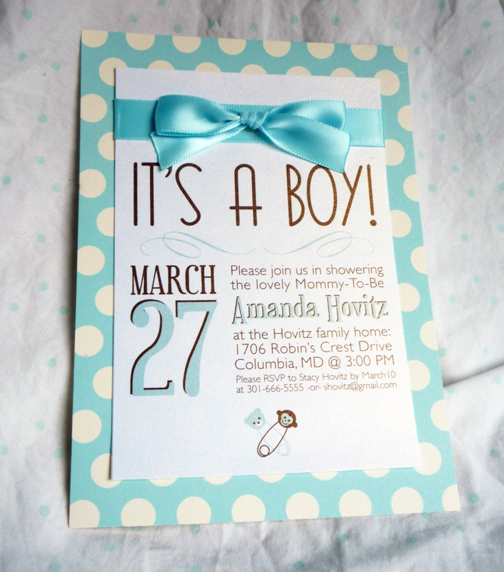 itu0027s a boy baby shower invitations