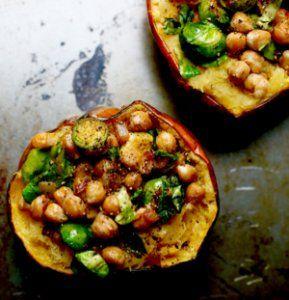 Chickpea Stuffed Acorn Squash - Food Heaven Made Easy
