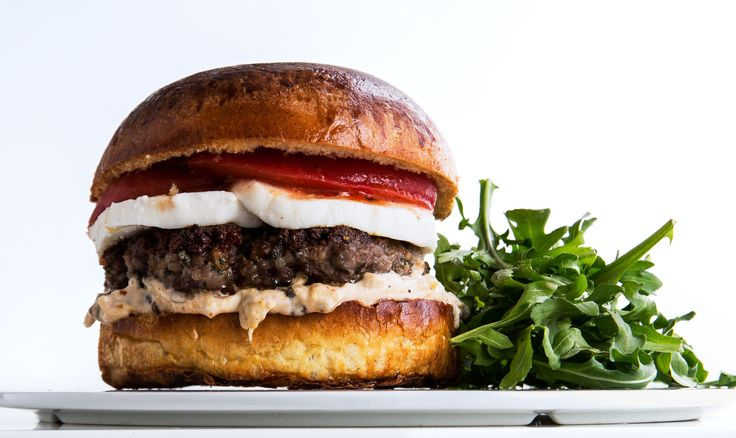 Put lamb & bacon on your burger because you can. Recipe for Lamb Bacon Burgers with Spicy Aioli