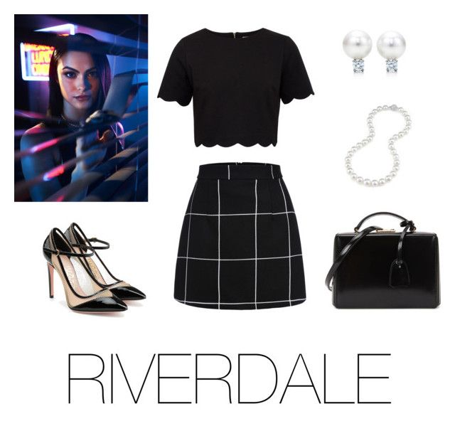 Veronica Lodge by crazy-dreamer22 on Polyvore featuring polyvore fashion style Ted Baker Salvatore Ferragamo Mark Cross clothing
