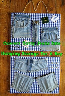 A Pretty Talent Blog: Turning Tatty Jeans Into Hanging Storage