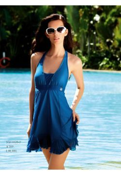 Frilly Long Swim Dress in Purple or Blue Clearance - $64.00 : Professional swimwear stores, coolbikinishop.com