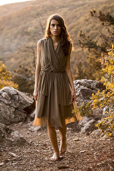 AW 2014 Khaki dress