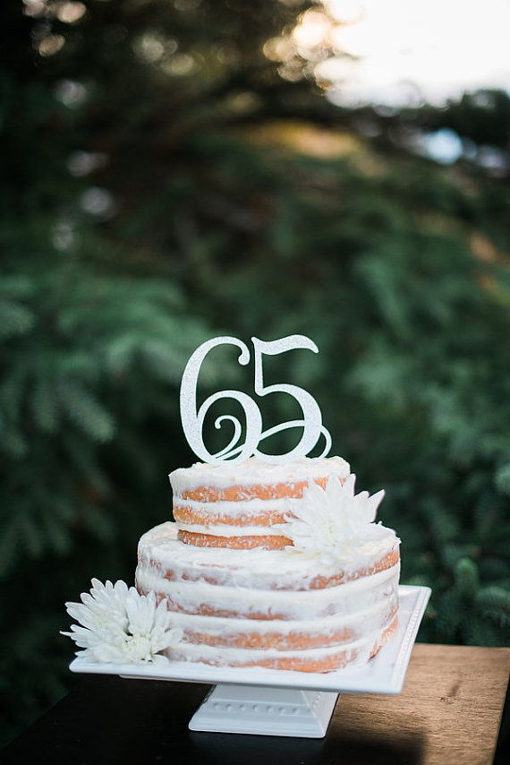 65th Birthday Party Ideas 65 Cake Topper Anniversary Glitter Decorations Supplies Age Number And Pick Color