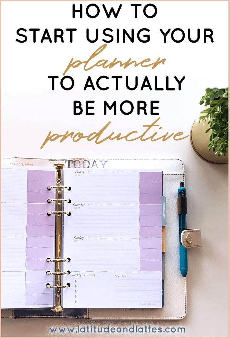 How to use your planner to actually be more productive! #planner #plannergirl #productive #inkwellpress #stayfocused