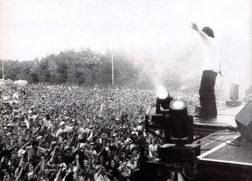 The Stone Roses play, Spike Island, Cheshire, 1990.