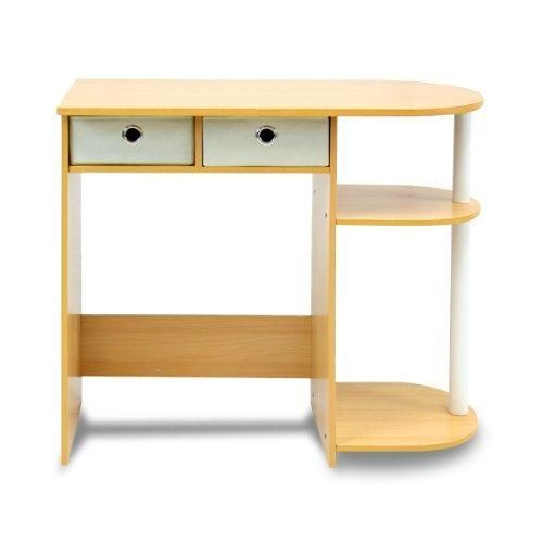 Furinno 11193BE/WH/IV Go Green Home Computer Desk/Table Beech/Ivory/White