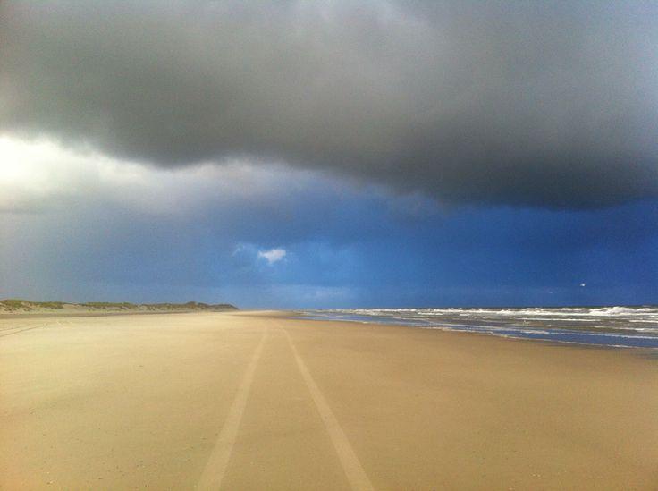 Zeldzaam mooi winterse wolken op Terschelling