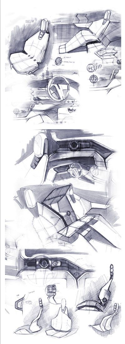 2601 Best Transportation Interior Sketches Images On Pinterest Car Interior Design Car