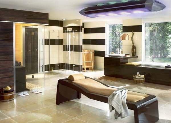 european bathroom finnish sauna beauty and luxury. Black Bedroom Furniture Sets. Home Design Ideas