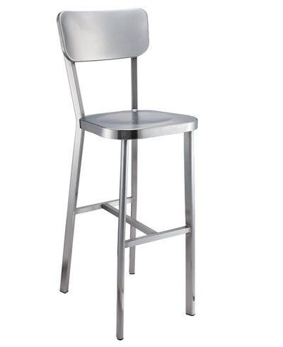 """""""Maia"""" Polished Stainless Steel Bar Stool – Simply Bar Stools"""