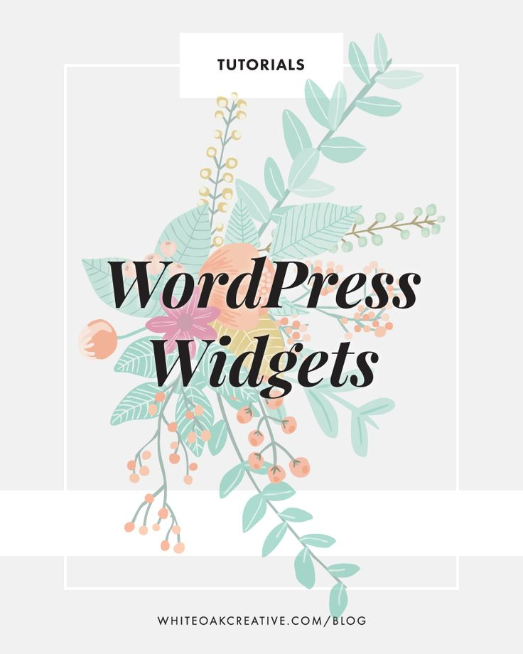 Managing and organizing your widgets in wordpress, wordpress tutorial, blog tips, blog guide