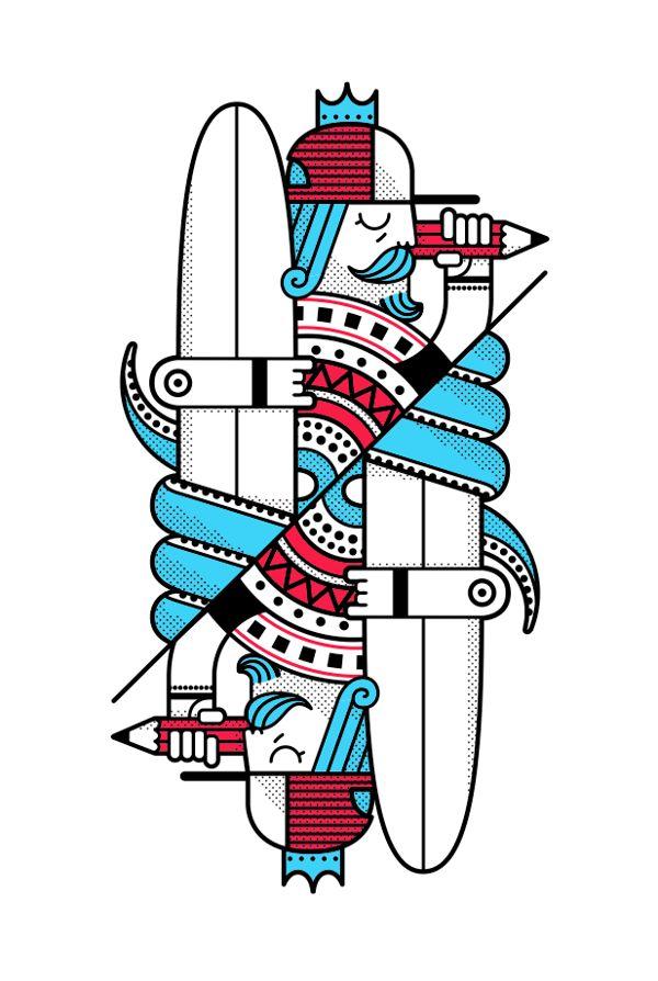 Surf Royale by Dario Genuardi, via Behance
