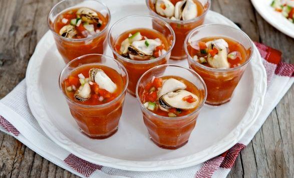 Gazpacho met #mosselen