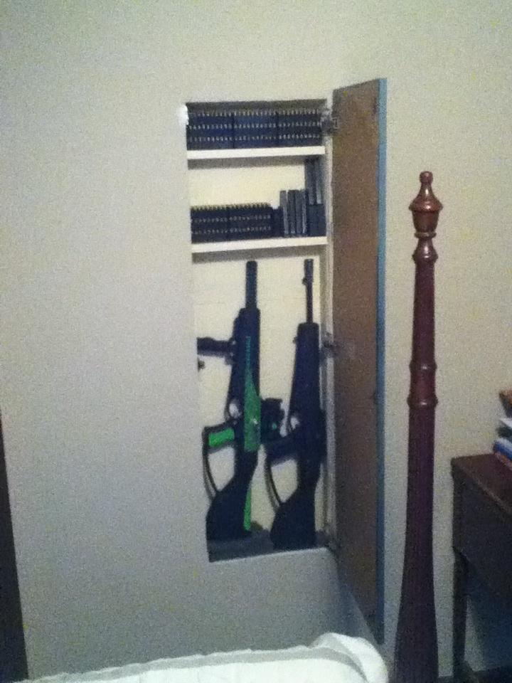 Hidden Gun Cabinet Open Diy Hidden Gun Storage