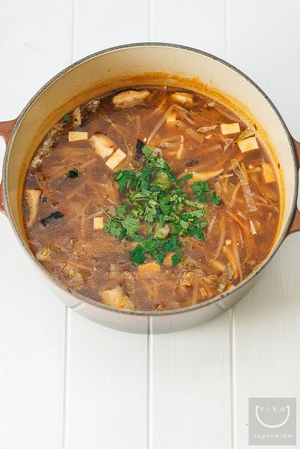 Vegan Hot + Sour Soup Version 3 by veganmiam, via Flickr - looks yummy