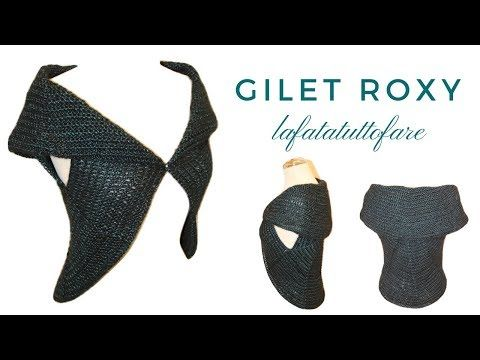 TUTORIAL: Gilet Roxy/ cardigan/ poncho tondo ***lafatatuttofare*** - YouTube