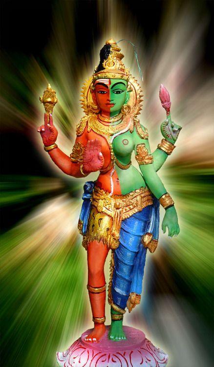 Ardhanarishvara - Shiva and Shakti (via Dolls of India)