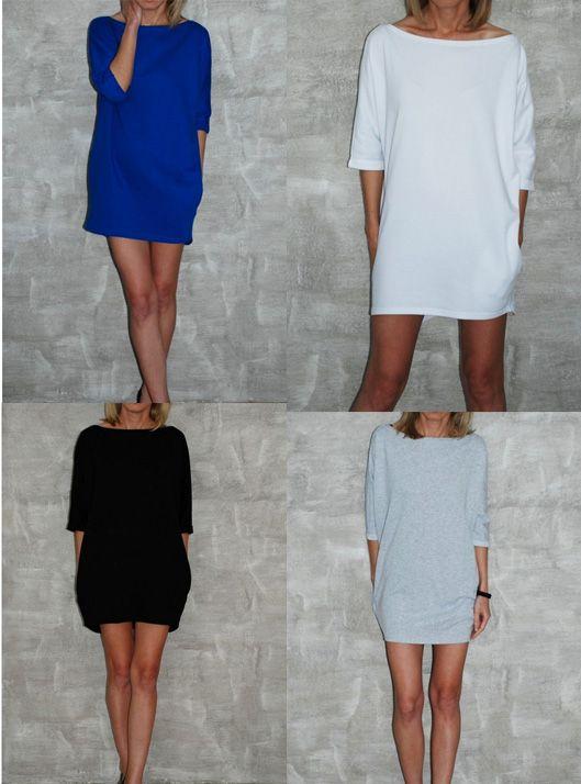 Dresowa sukienka - MOON - marki Sisters. Sweatshirt dress MOON. #sukienka #dresowa #dress #shopsisters #sisters #woman #damen
