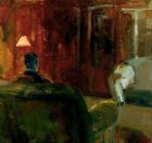 Elmer Bischoff (American, Bay Area Figurative Movement, 1916–1991): Interior with Two Figures, 1965.