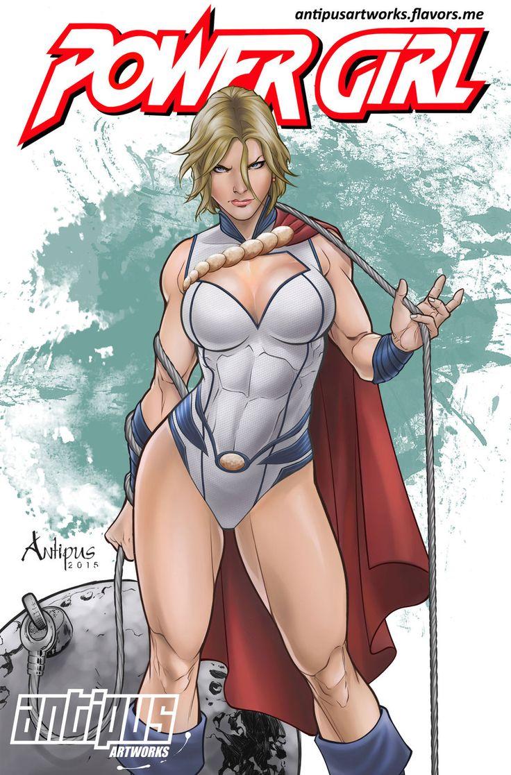 Powergirl and wonder woman kiss