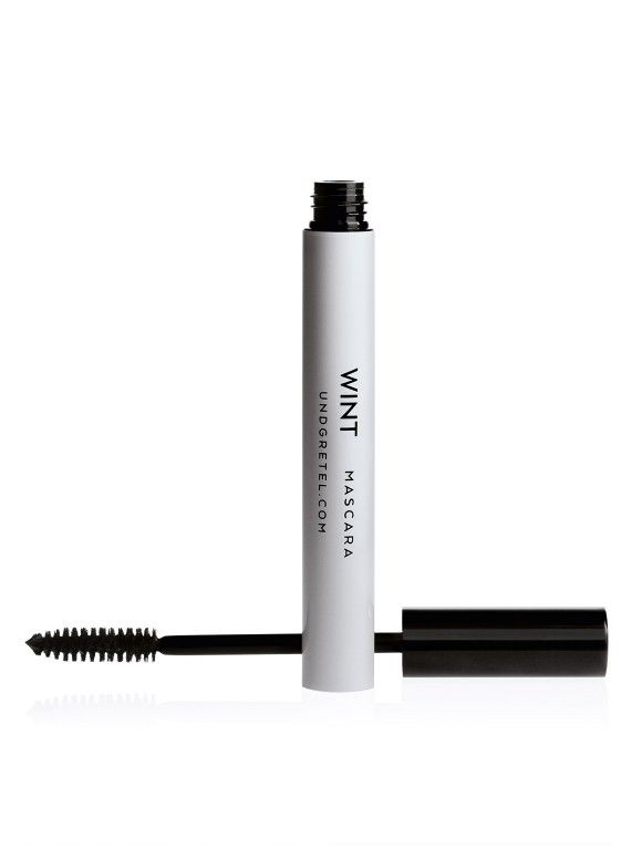 WINT Mascara: Thicken, lengthen, or define? Here's a mascara that does it all. Made with the perfect balance of beeswax and vegetable waxes, the creamy, high-pigment formula wraps each and every lash in rich, glossy colour. Wheat starch helps boost volume while natural emollients enhance shine. Brush on one coat for soft, natural definition or layer on several for dreamy doe eyes. Start practicing your wink.