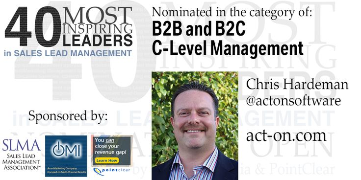 Nominee: Chris Hardeman, Act-On Software