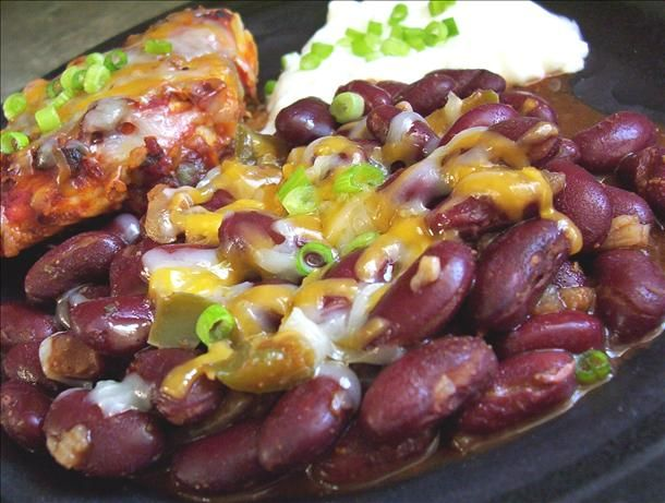 Mexican Jumping Beans (south Beach Diet-phase 1 Friendly) from Food.com:   								Done in 20 minutes on the stovetop; I like to serve this with my Low Carb Mexi Baked Chicken for a complete and festive low carb dinner. Also a tasty, easy side dish to serve with your tacos, fajitas, etc.
