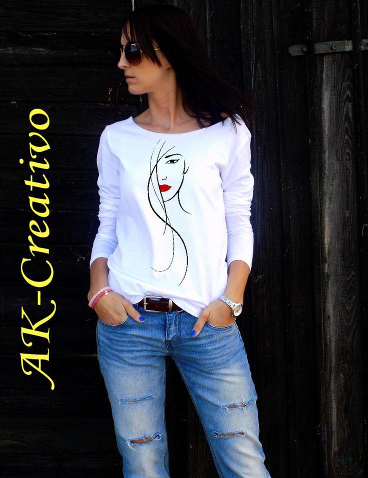 "t-shirt ""Beauty"" - rękaw  AK-Creativo"