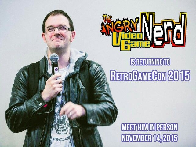 Anger Video Game Nerd Return To Syracuse New York, for RetroGameCon 2015! Saturday November 14th!   Check us out @ www.retrogamecon.com