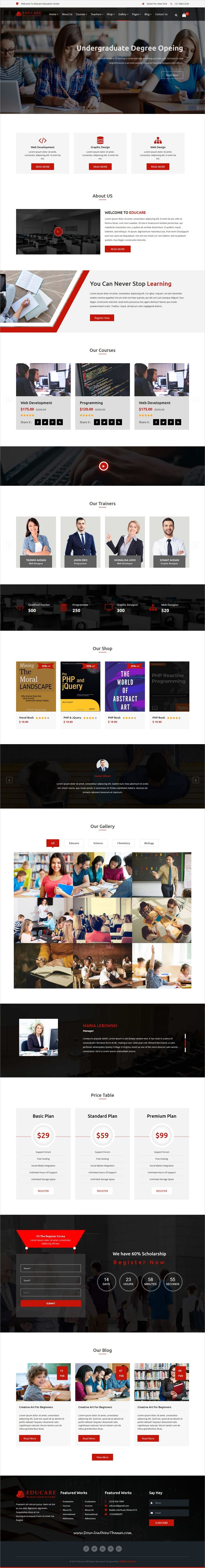 Educare is clean and modern design 2in1 responsive #HTML5 template for #college and #educational institutes website to live preview & download click on Visit 👆