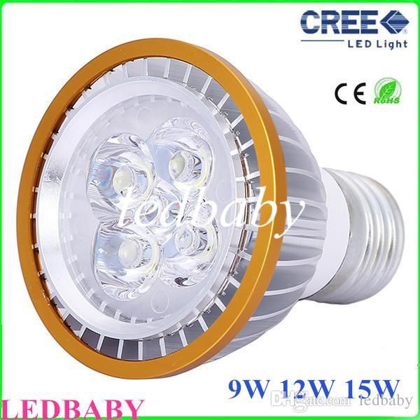 2016 LED Bulbs PAR20 Cree Led Light 9W 12W 15W Spotlight E27 White Warm White Indoor Lighting 110V-240V Free DHL FEDEX Shipping Online with $3.2/Piece on Ledbaby's Store | http://www.dhgate.com/store/product/20-piece-par20-led-bulbs-par-20-cree-led/230323710.html