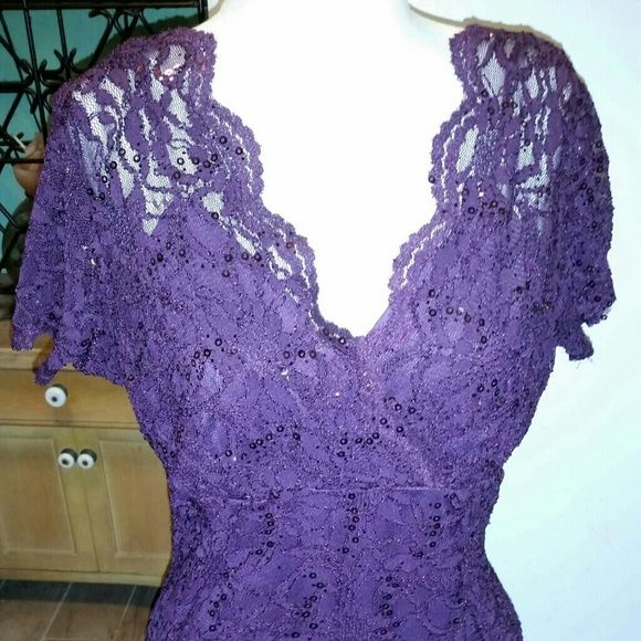 Marina Lace Plum Dress♡♡♡♡♡ Marina Lace Plum Dress size 16, brand new beatiful for the Holidays Marina Dresses Midi